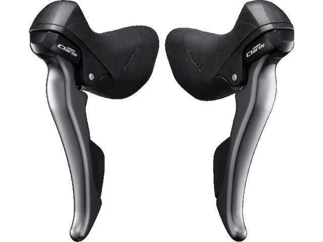 Shimano Claris ST-R2000/-R2030 Gear/Brake Lever pair, 2 x 8-speed grey